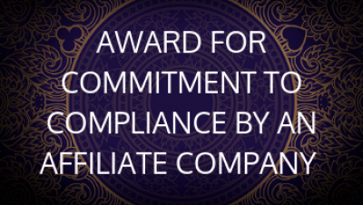 Award for Commitment to Compliance by An Affiliate Company