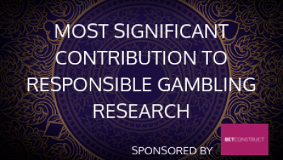 Most Significant Contribution to Responsible Gambling Research